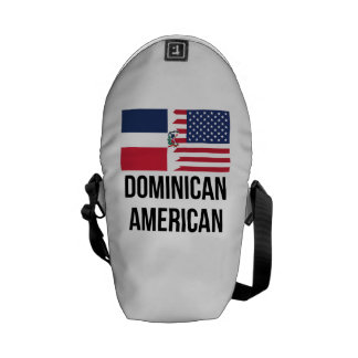Dominican American Flag Messenger Bags