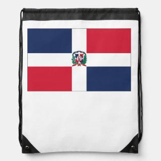 Dominican Flag Drawstring Bag