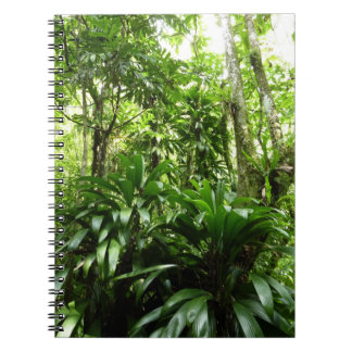 Dominican Rain Forest I Tropical Green Nature Spiral Notebook