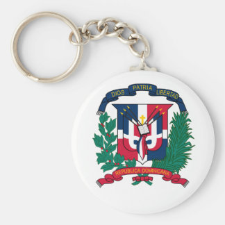 Dominican Republic Coat of Arms Keychain