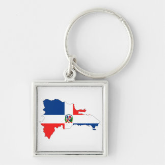 dominican republic country flag map shape symbol key ring