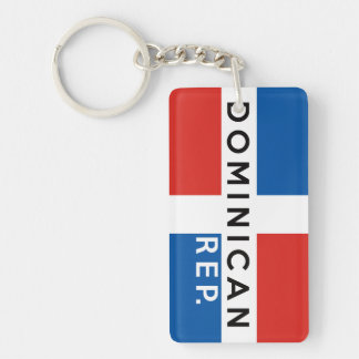 dominican republic country flag symbol name text key ring