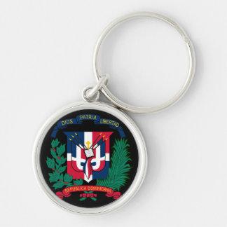 dominican republic emblem key ring