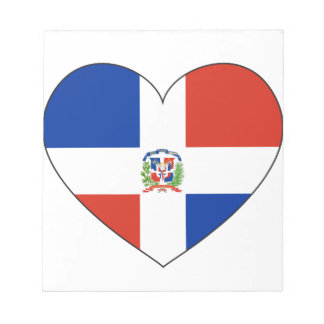 Dominican Republic Flag Heart Notepads