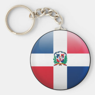 Dominican Republic Flag Key Ring