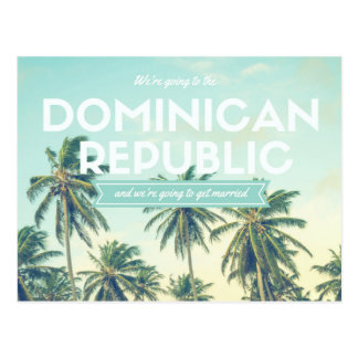Dominican Republic Tropical Beach Save the Dates Postcard