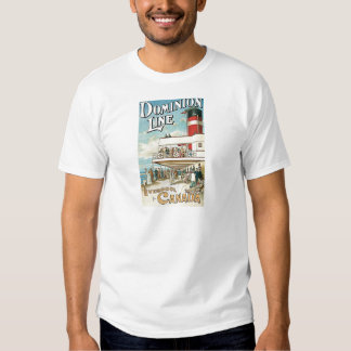 Dominion Line Liverpool to Canada T Shirts