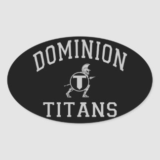 Dominion Titans Oval Sticker