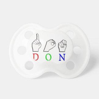 DON FINGERSPELLED NAME SIGN ASL DUMMY