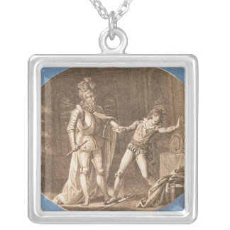 Don Giovanni and the statue of the Commandantore Silver Plated Necklace