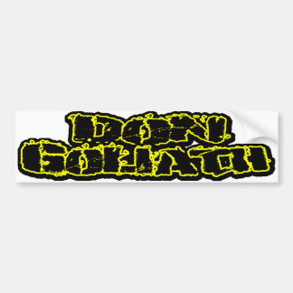 Don Goliath Car Bumper Sticker
