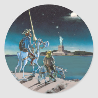 DON QUIJOTE&SANCHO - Freedom, Sancho, ... Round Sticker