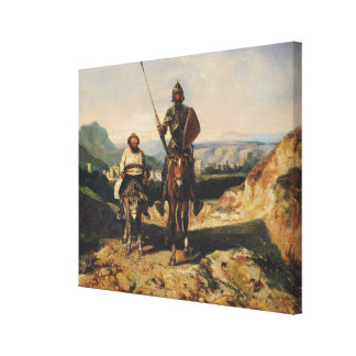 Don Quixote and Sancho Canvas Print