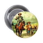Don Quixote and Sancho Panza 6 Cm Round Badge