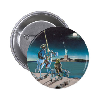 DON QUIXOTE:  -Freedom, Sancho,...by @QUIXOTEdotTV 6 Cm Round Badge