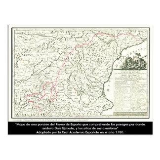 Don Quixote route Map - Cervantes Postcard