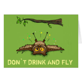 DON`T DRINK AND FLY CARD