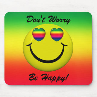 Don t Worry Be Happy Smiley Face Mousepad Mouse Pads