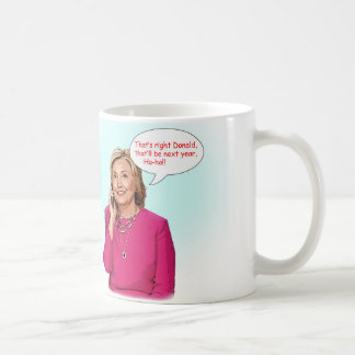 Donald and Hillary phone conversation mug. Coffee Mug