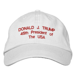 Donald J. Trump 45th President of The USA Hat Embroidered Hats