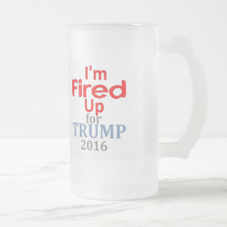 Donald TRUMP 2016 Frosted Glass Beer Mug