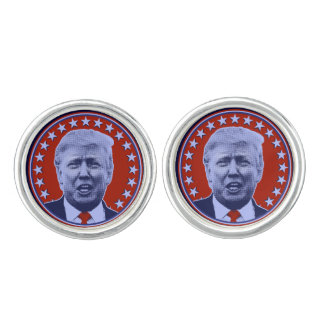 Donald Trump for President 2016 in Red Cuff Links