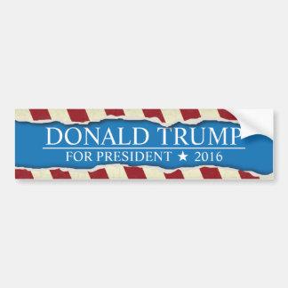 Donald Trump for President 2016 Ripped Paper Bumper Sticker