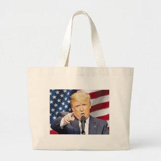 Donald Trump Large Tote Bag