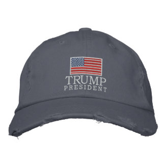 Donald Trump - President 2016 with American Flag Embroidered Hat