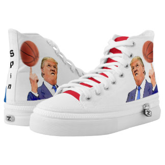 Donald Trump Spinning a Basketball   shoes Printed Shoes