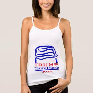 "Donald Trump ""You're Hired! Spaghetti Strap Singlet"