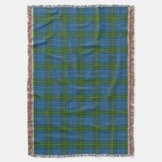 Donegal County Irish Tartan Throw Blanket