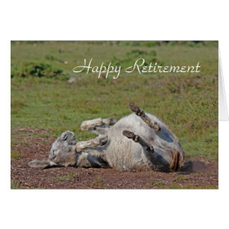 Donkey happy retirement card