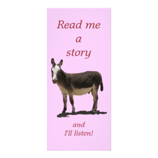 Donkey has Funny Tail Cute Children's Bookmark Rack Card Template