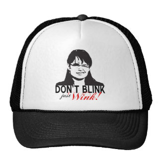 Don't Blink Just Wink Cap Mesh Hats