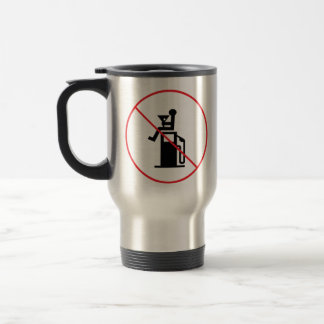 Don't drink and pump gas 15 oz stainless steel travel mug
