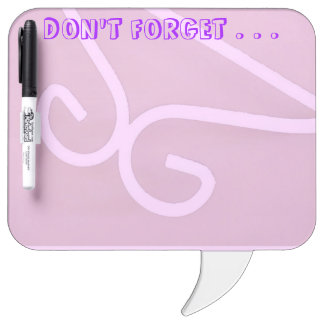 DON'T FORGET Dry-erase Board