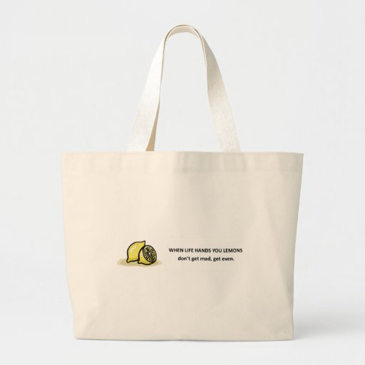 dont-get-mad-get-even tote bags