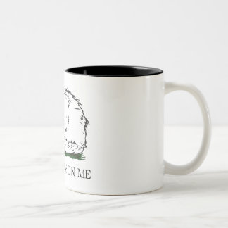 Dont Grab on Me Two-Tone Coffee Mug