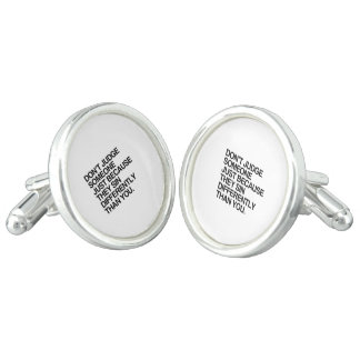 DON'T JUDGE SOMEONE BECAUSE THEY SIN DIFFERENTLY CUFF LINKS