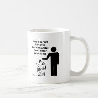 Don't Litter Your Mind Basic White Mug