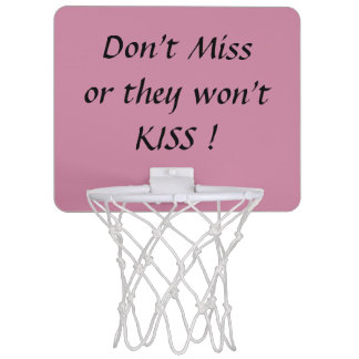 Don't Miss or they won't KISS! Wedding game Mini Basketball Hoop
