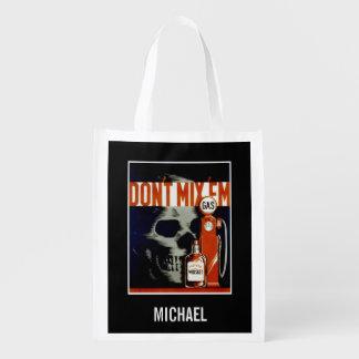 """Don't Mix Them"" vintage custom name reusable bag"