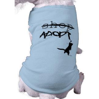 """Don't Shop - ADOPT"" Sleeveless Dog Shirt"