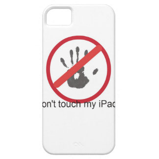 """don't touch"" barely there iPhone 5 case"