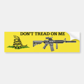 DONT TREAD ON ME AR15 SUPPORT YOUR 2ND AMENDMENT BUMPER STICKER