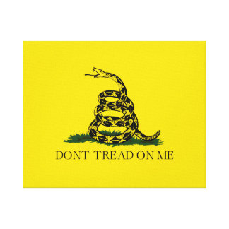 Don't Tread on Me Gadsden American Flag Canvas Print