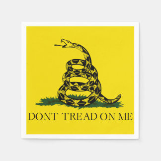 Don't Tread on Me Gadsden American Flag Paper Napkin