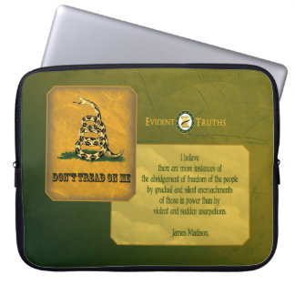 Don't Tread on Me - James Madison Laptop Computer Sleeves