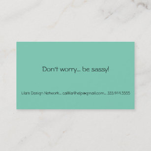 Tight business cards zazzle nz dont worry be sassy fashion business card reheart Gallery